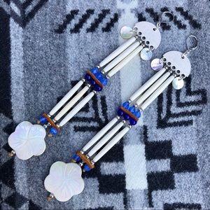 Native-Made Hairpipe Boho Earrings